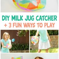 Make a DIY Milk Jug Catcher for a fun and easy catching game.