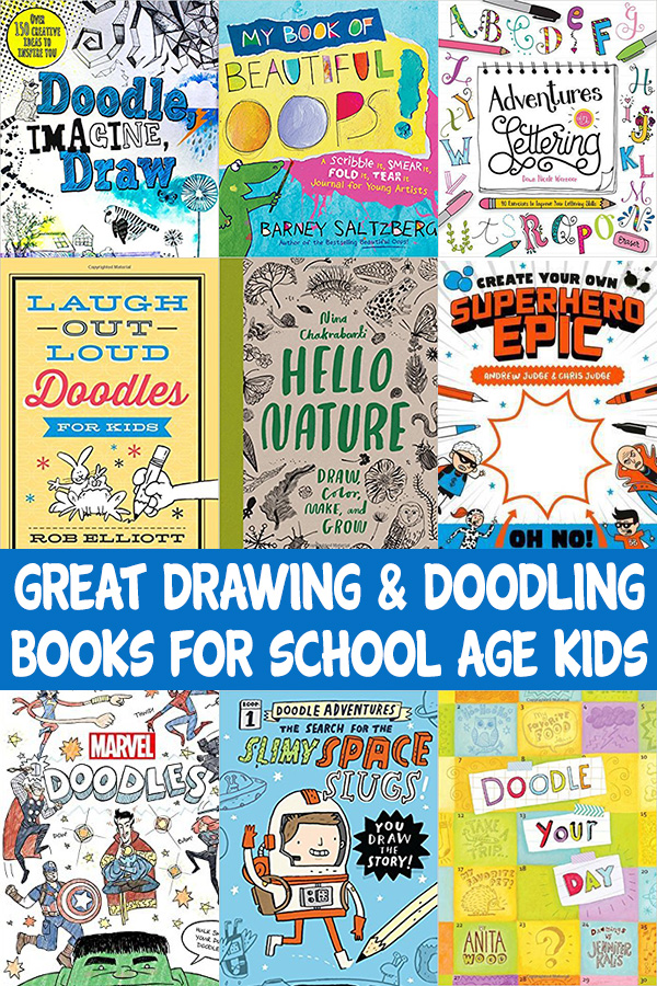 Super drawing and doodlng books for kids