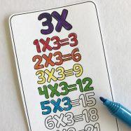 Printable Multiplication Bookmarks
