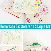 Gifts Kids Can Make: Homemade Coasters with Sharpie Art