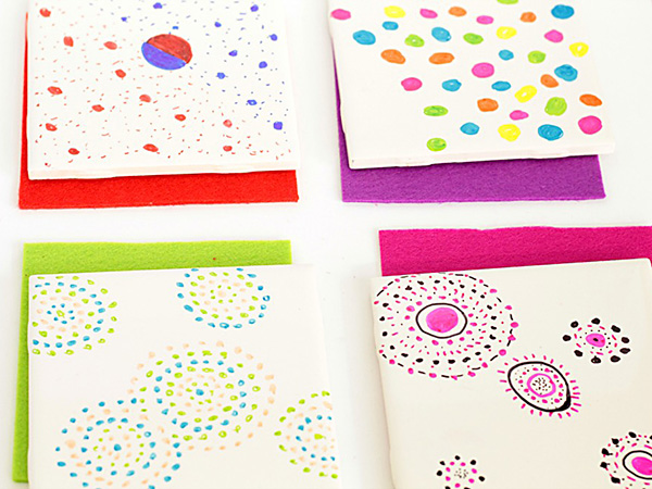 Gifts Ideas Kids Can Make- Coasters with Sharpie Art