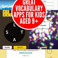 Great Vocabulary & Word Work Apps for Kids Aged 9+