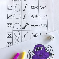 Printable Silly Spiders Drawing Game