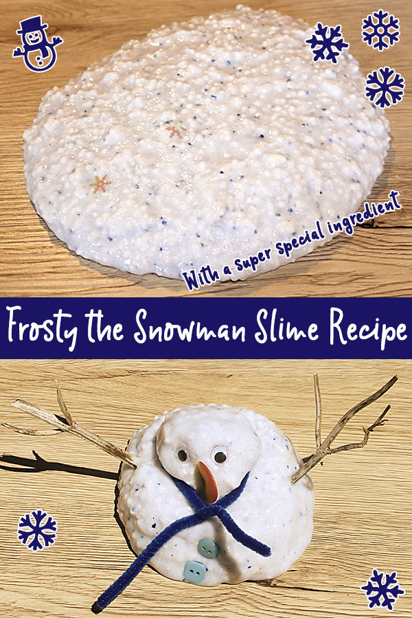 Frosty the Snowman sensory slime recipe