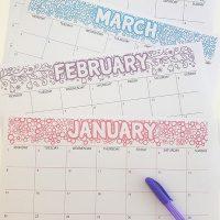 2018 Blank Printable Calendar