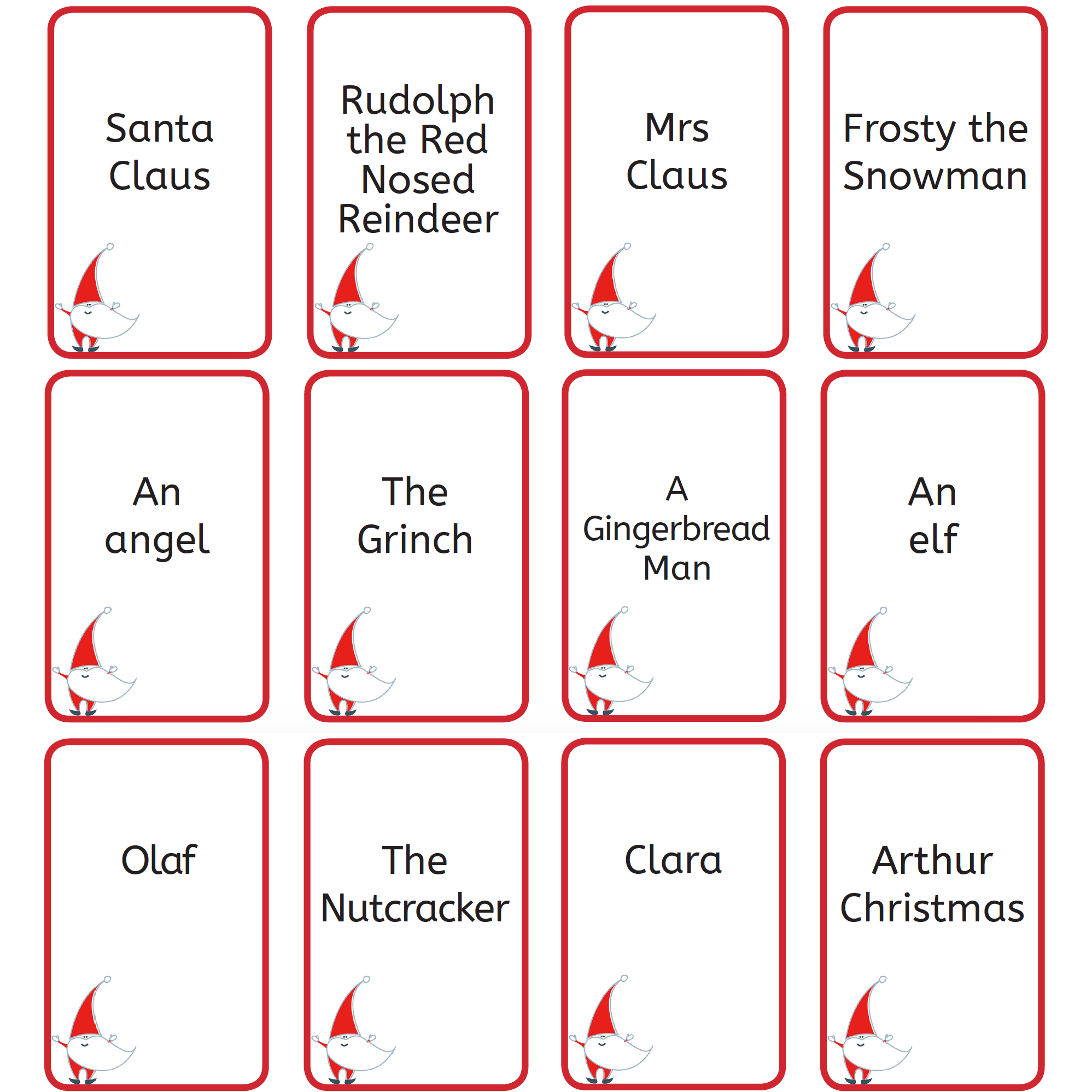 photo regarding Printable Christmas Games With Answers identify Cost-free Printable Xmas Video games: Xmas Who Am I?