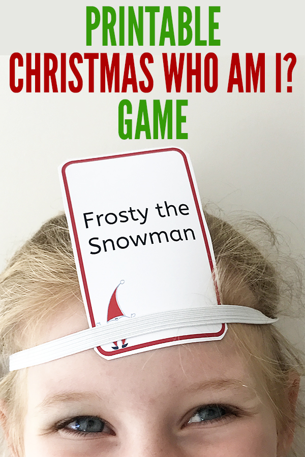 printable christmas games christmas who am i