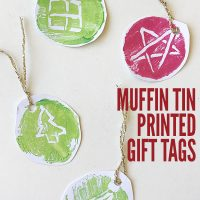 Christmas Crafts for Kids: Muffin Tin Print Gift Tags