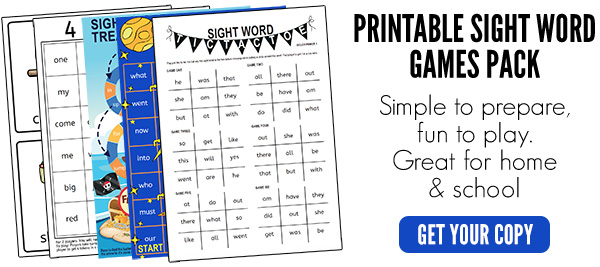 Sight words games pack