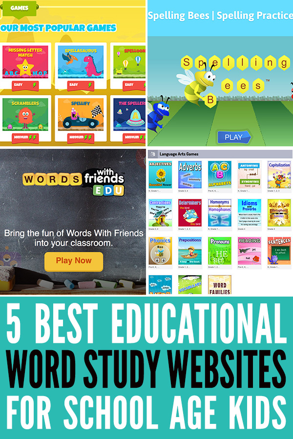 Best Educational Word Games Websites for School Age Kids