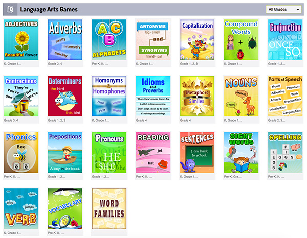 Learning Websites for School Aged Kids Word Games