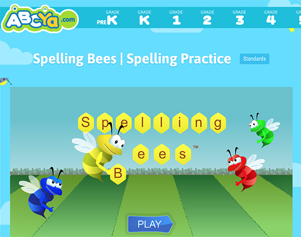 Learning Websites for Kids Word Games Spelling
