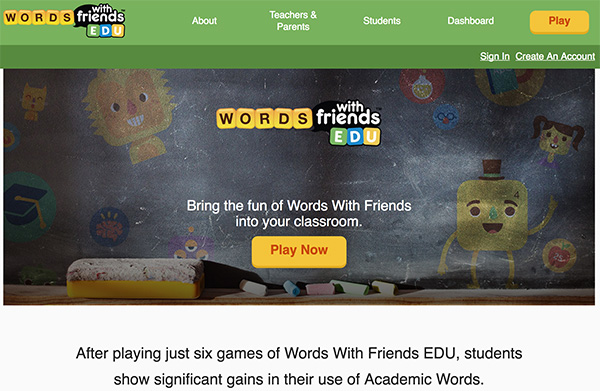 Educaional Websites for Kids Word Games