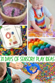 31 Days of Sensory Play Ideas. Kid Approved!