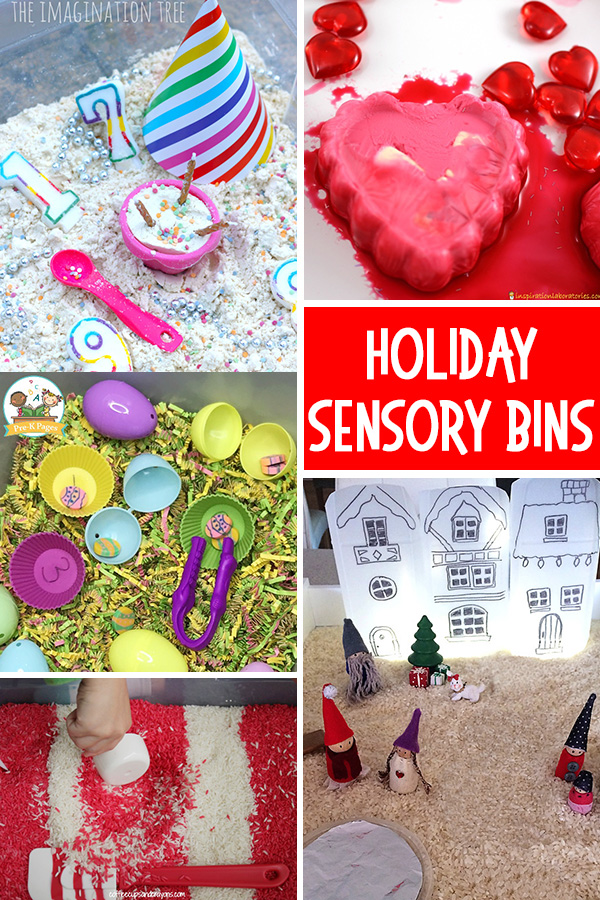 Holiday Sensory Bins