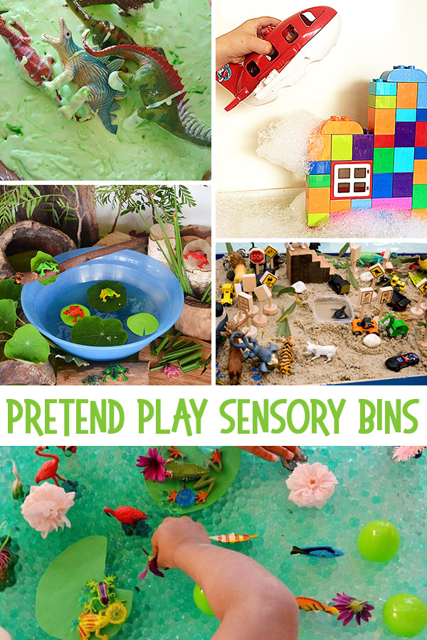 Pretend Play Sensory Bins: 55+ Sensory Bin Ideas for Kids