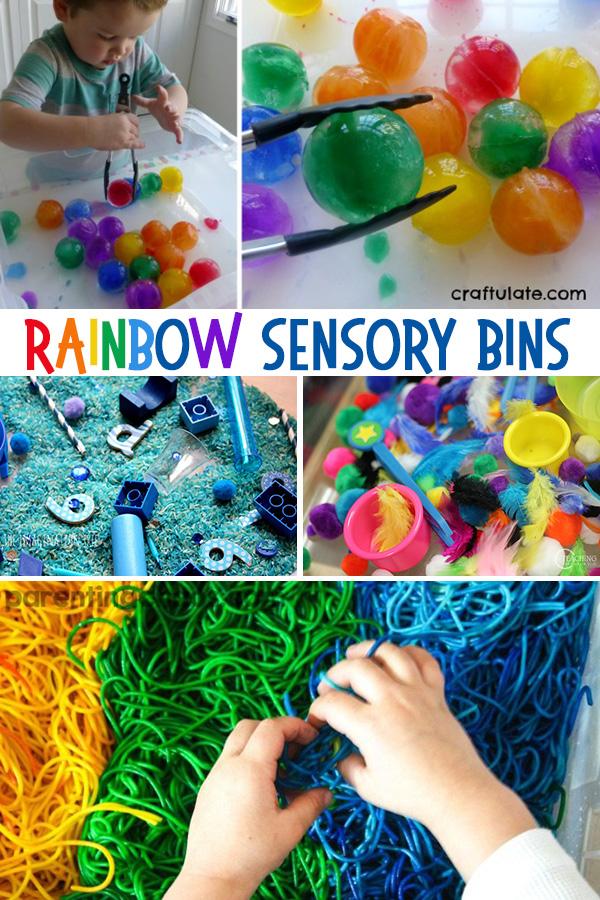 Rainbow Sensory Bins: 55+ Sensory Bin Ideas