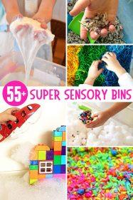 55+ Super Sensory Bins for Kids