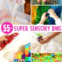 Over 55 super ideas for sensory bins