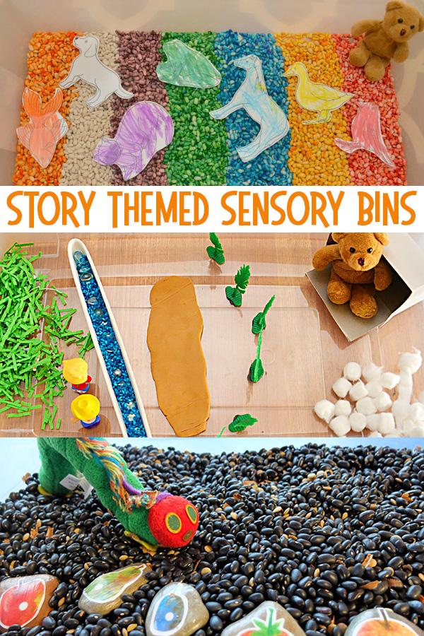 Story Themed Sensory Bins - 55+ Fabulous Sensory Bins