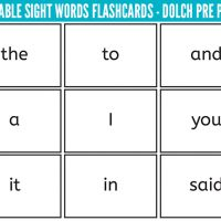 picture about Printable Sight Word Flash Cards called Sight Text Archives - Childhood101