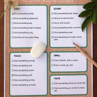 Nature Scavenger Hunt Printable: Exploring Nature With the Five Senses