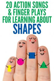 Learning About Shapes: 20 Rhymes, Action Songs & Finger Plays