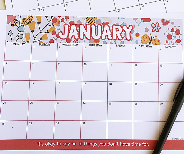 picture regarding Calendar for Printable titled Totally free 2019 Calendar Printable: Acquire Organized for a Excellent 2019!