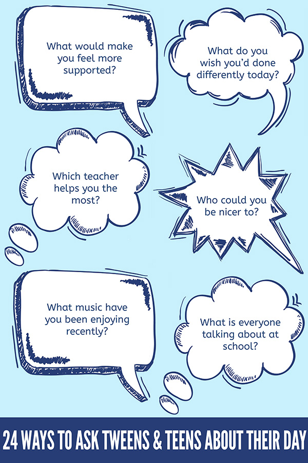 24 Conversation Starters for Tweens and Teens