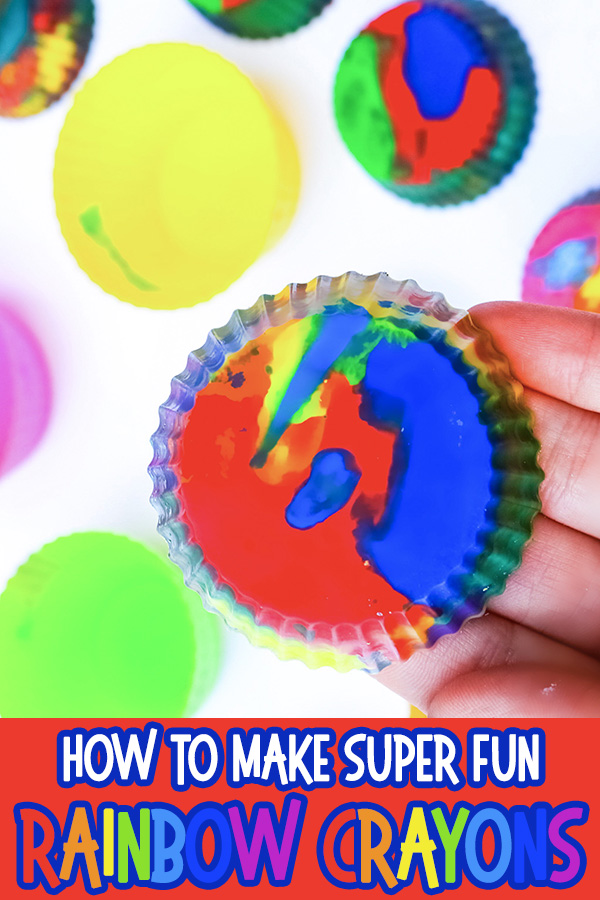 How to make rainbow crayons