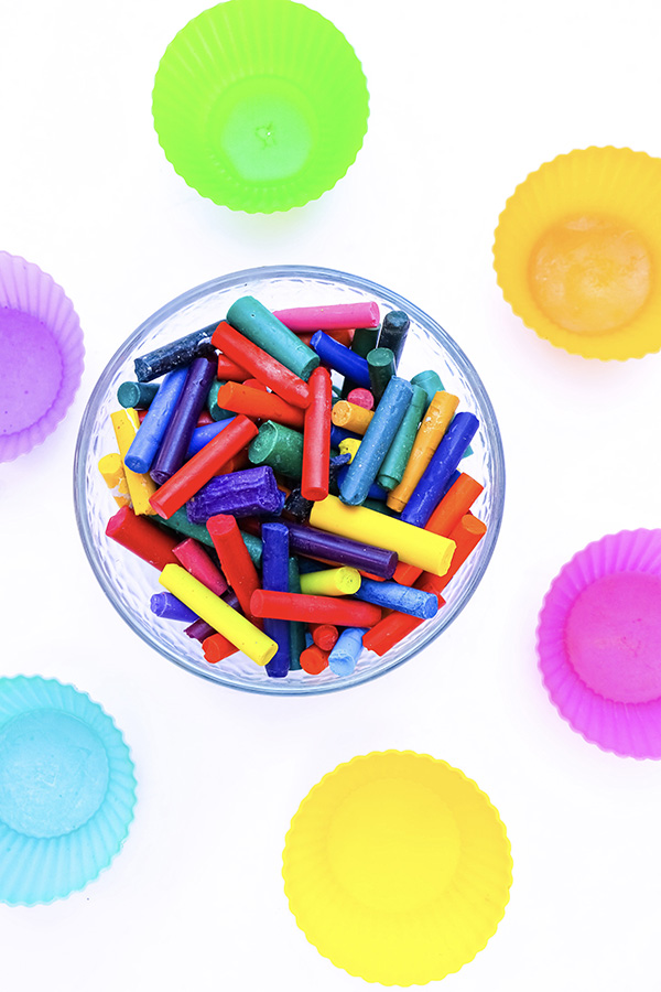 How to recycle crayons to make rainbow crayon shapes