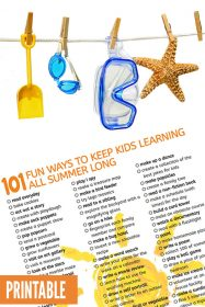 101 Fun Ways to Keep Kids Learning All Summer Long