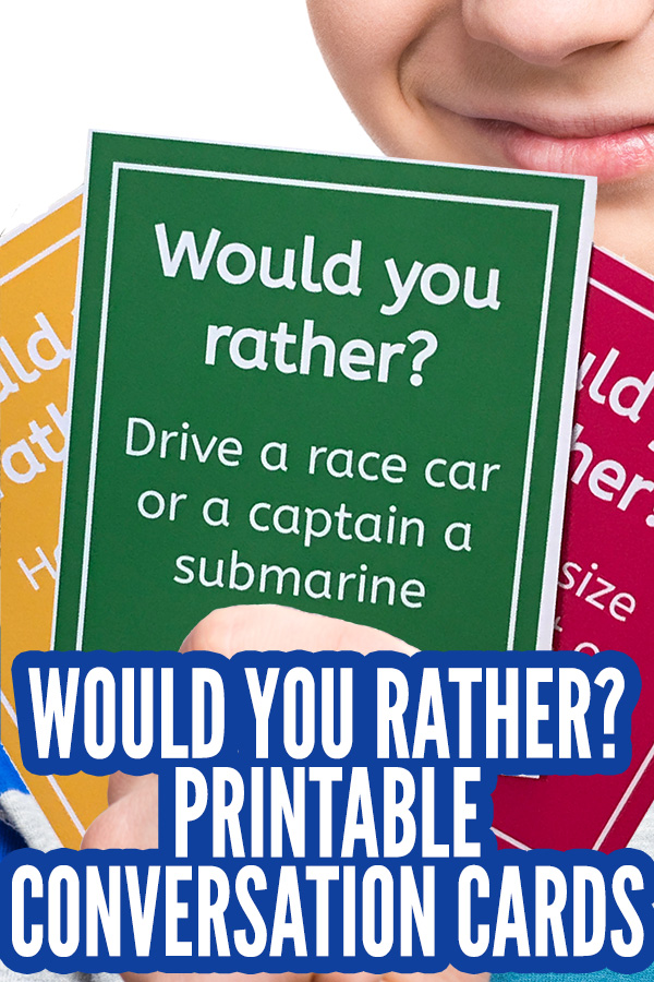 photograph regarding Would You Rather Cards Printable known as Would Oneself In its place For Children: A Pleasurable, Spouse and children Interaction Match