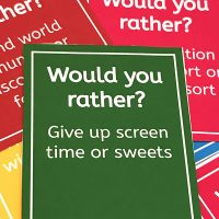 Would you rather? Family Game Question Cards
