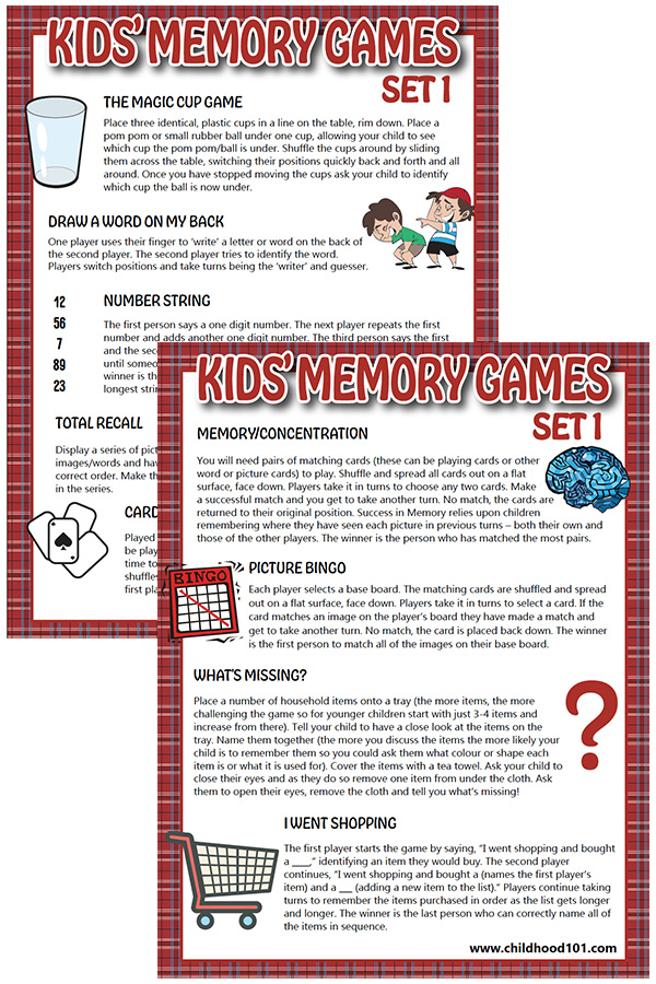 Kids Memory Games Set 1