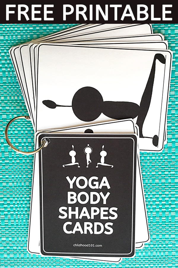 Yoga Poses for Kids. Free Printable Body Shape Cards