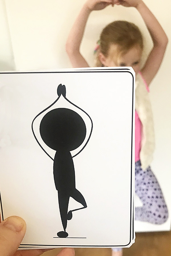 Yoga Poses for Kids Printable Body Shape Cards