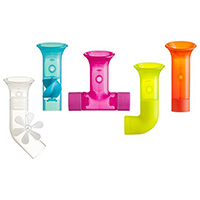 Baby play bath pipes