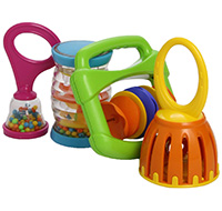Baby play musical instruments