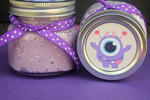 Floam Slime Recipe: Halloween Purple Monster Floam Slime
