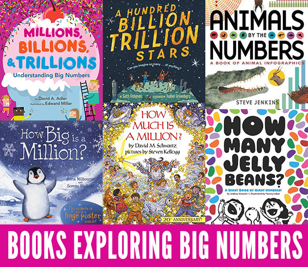Picture books about counting big numbers