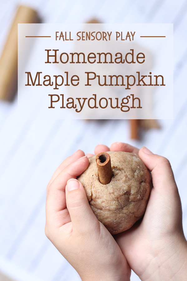 Homemade Maple Pumpkin Playdough Fall Sensory Play