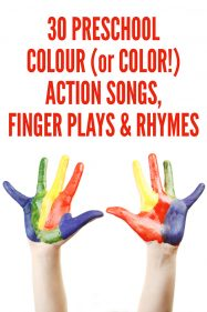 Preschool Color Action Songs, Finger Plays and Rhymes