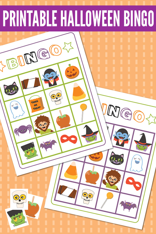 image regarding Printable Halloween Bingo identified as Halloween Game titles for Young children: Printable Halloween Bingo