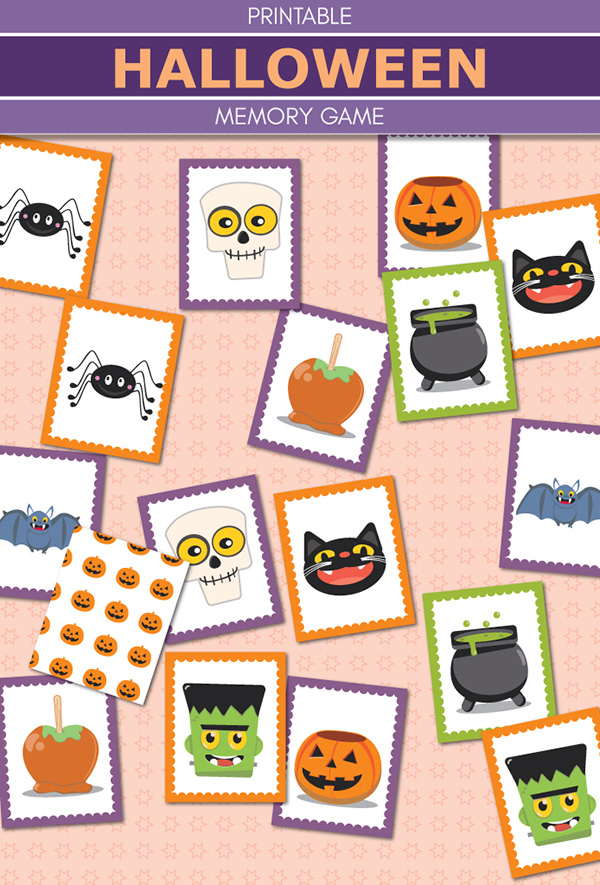 Halloween activities for kids: Free printable memory match game