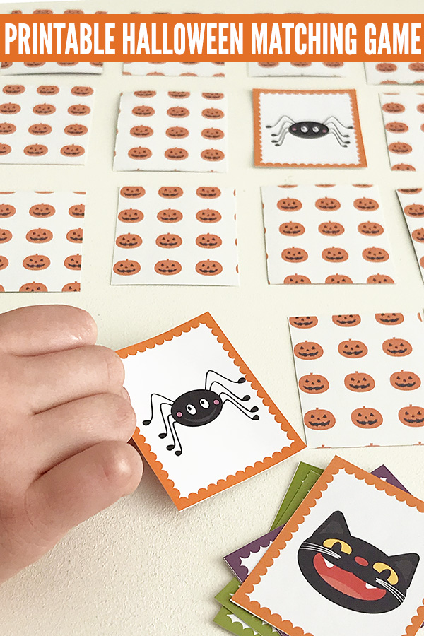 Halloween activities for kids: Printable Halloween memory match game