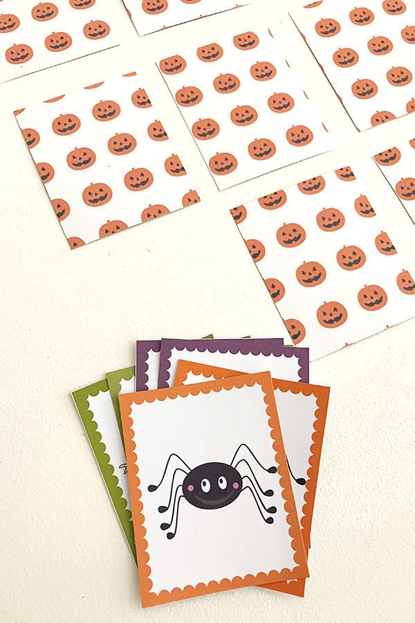 Halloween games for kids: Free printable Halloween memory match game
