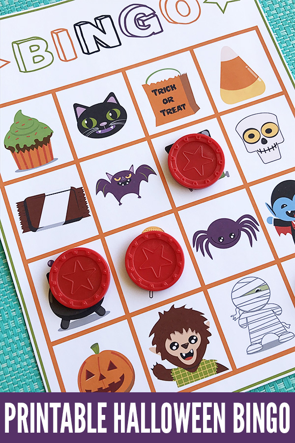 photo regarding Printable Halloween Bingo named Halloween Video games for Young children: Printable Halloween Bingo