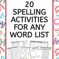 20 Spelling Activities For Any Word List