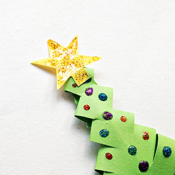 Christmas tree paper crafts for school aged kids
